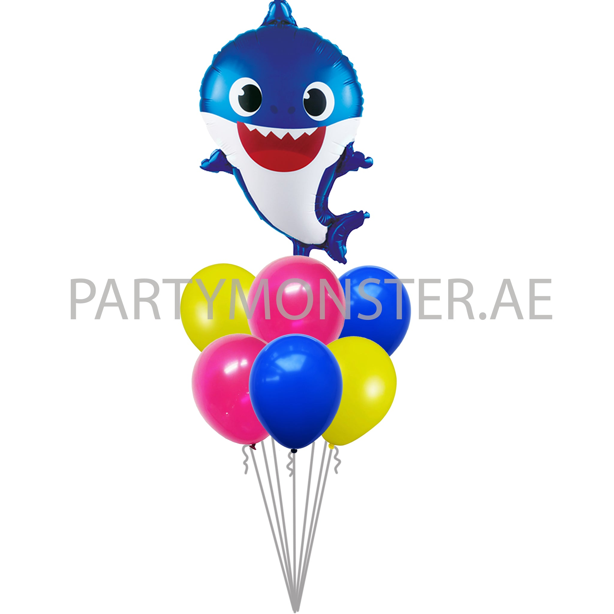 Blue baby shark balloons delivery in Dubai