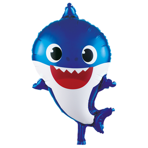 Blue Baby Shark foil balloon