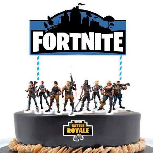Cake topper of fortnite theme - PartyMonster.ae