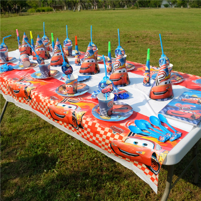 Cars themed table cover - PartyMonster.ae