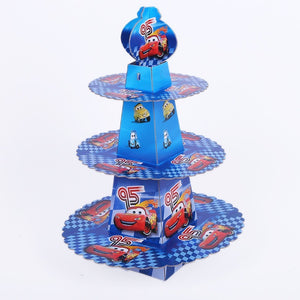 Cars Disney Style 2 - cupcake stand- 3 tier - PartyMonster.ae