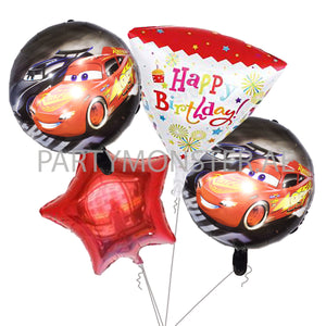 Cars birthday balloons bouquet - PartyMonster.ae