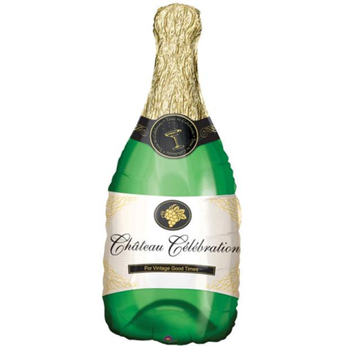 Champagne Bottle Balloon - 39in - PartyMonster.ae