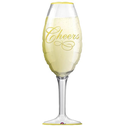 Champagne Glass Balloon - 39in - PartyMonster.ae