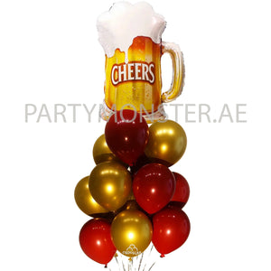 Cheers balloons bouquet - PartyMonster.ae