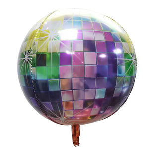Round Disco Ball Shaped Foil Balloon - Round 24 inches for sale online in Dubai