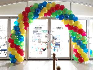 Spiral Balloon Arch - Any Color - PartyMonster.ae