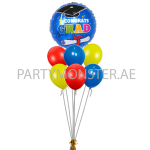 Colourful Graduation Balloons Bouquet in Dubai