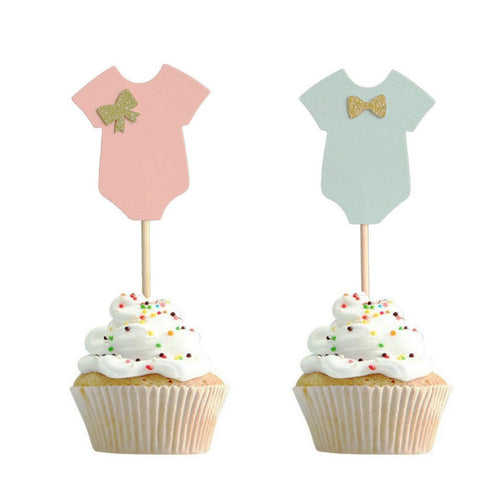Baby boy or girl  cupcake topper for baby shower, gender reveal parties,newborn - PartyMonster.ae