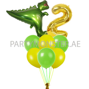 Dinosaur number balloons bouquet - PartyMonster.ae