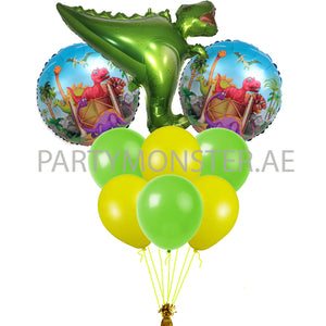 Dinosaur themed balloons bouquet - PartyMonster.ae