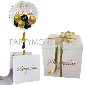 eid mubarak balloon in a box delivery all over UAE