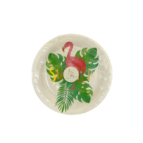 Flamingo Summer paper plates for sale in Dubai