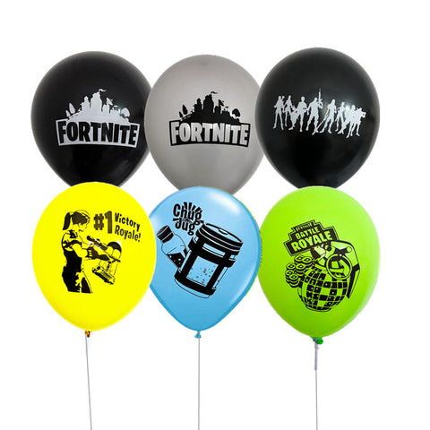 Fortnite theme party latex balloons 12inch each - PartyMonster.ae