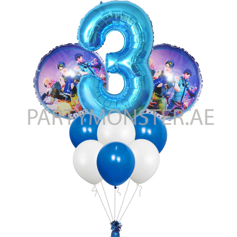 Fortnite with any number birthday balloons bouquet - PartyMonster.ae
