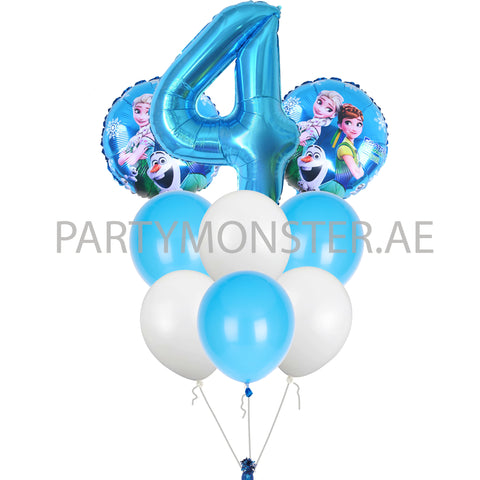 Frozen with any number balloons bouquet - PartyMonster.ae