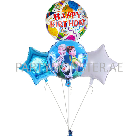 Frozen birthday balloons bouquet - PartyMonster.ae
