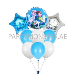 Frozen themed balloons bouquet - PartyMonster.ae