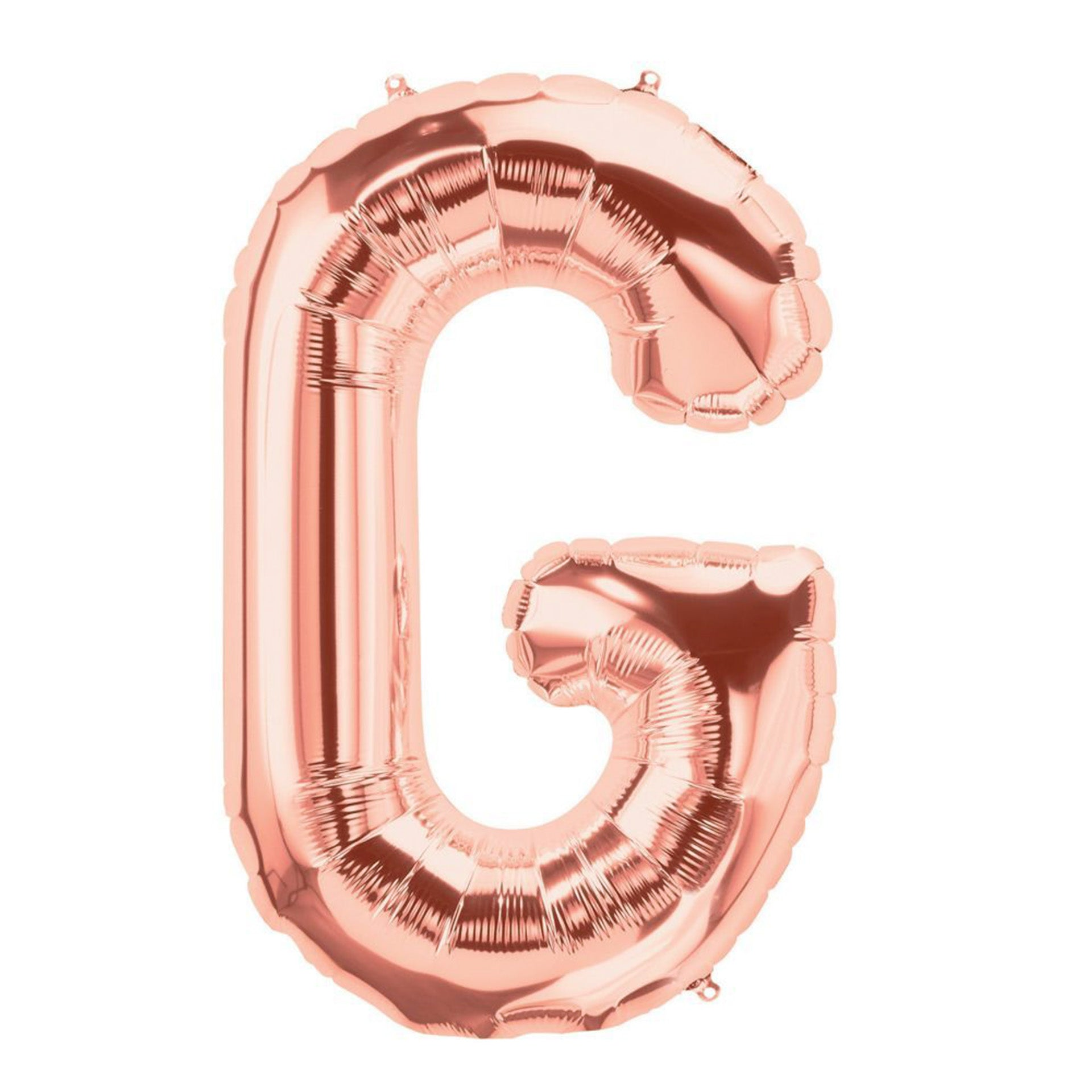 Letter G rose gold foil balloon for sale online in Dubai