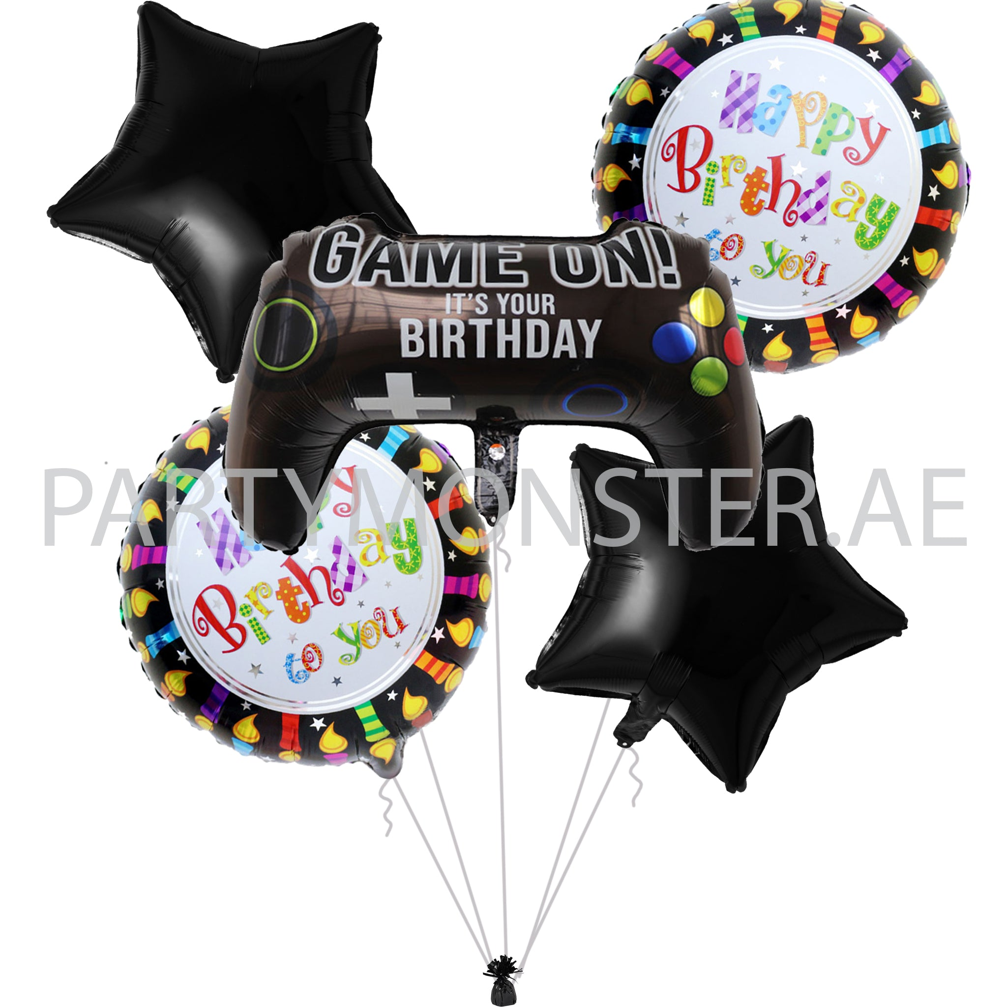 Game On Foil Balloons Bouquet Partymonster Ae