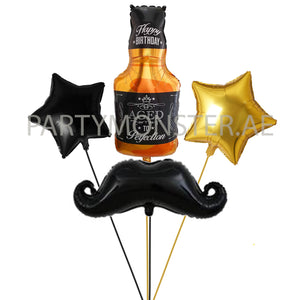 Gentleman birthday balloons bouquet - PartyMonster.ae