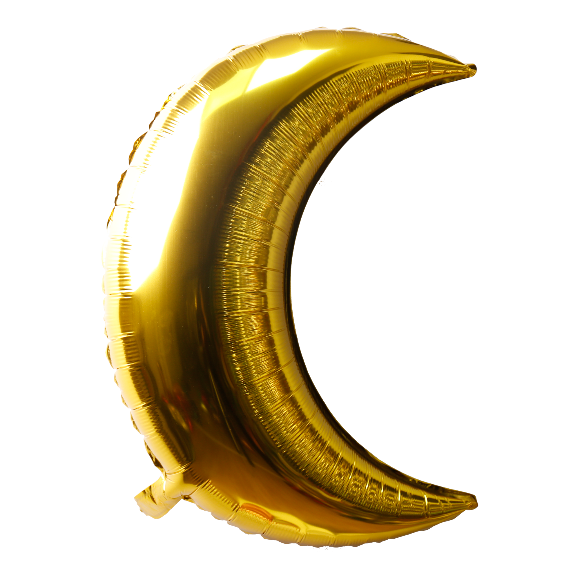 golden crescent moon shaped foil balloon for sale online in Dubai