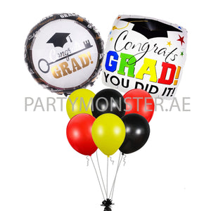 Graduation Mixed Balloons Bouquet in Dubai