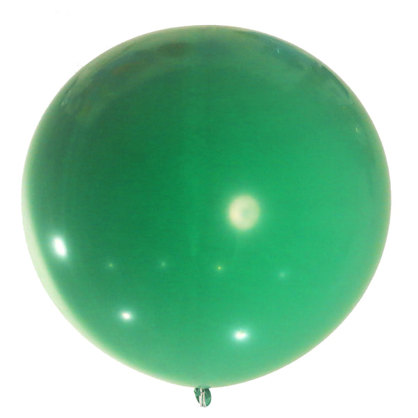 green 36 inches latex balloon with helium for delivery all over Dubai