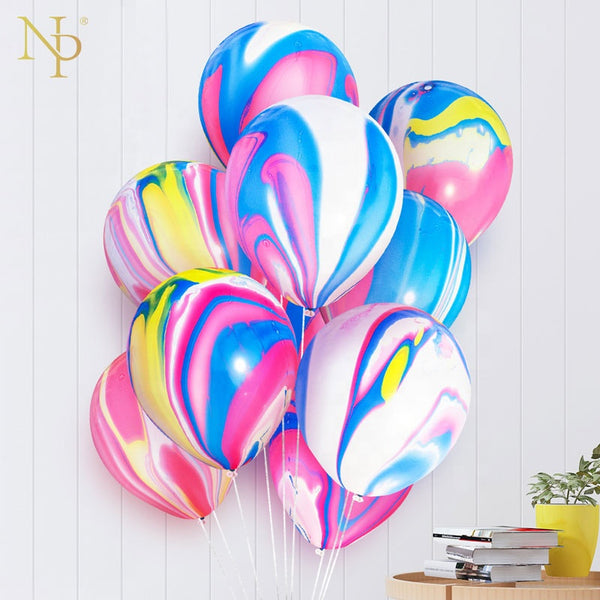 marble latex balloons bunch for sale online in Dubai