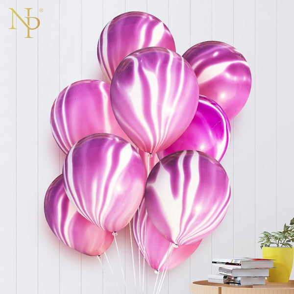 purple marble latex balloons bunch for sale online in Dubai