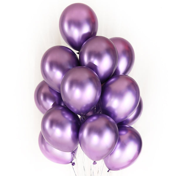 Purple chrome balloons bouquet in Dubai