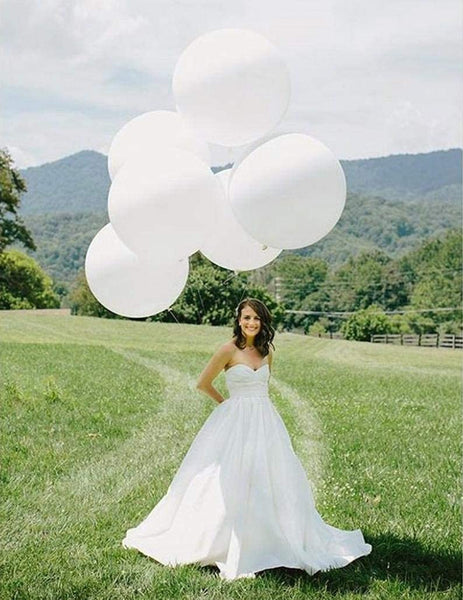 white 3 feet latex balloons for sale online in Dubai