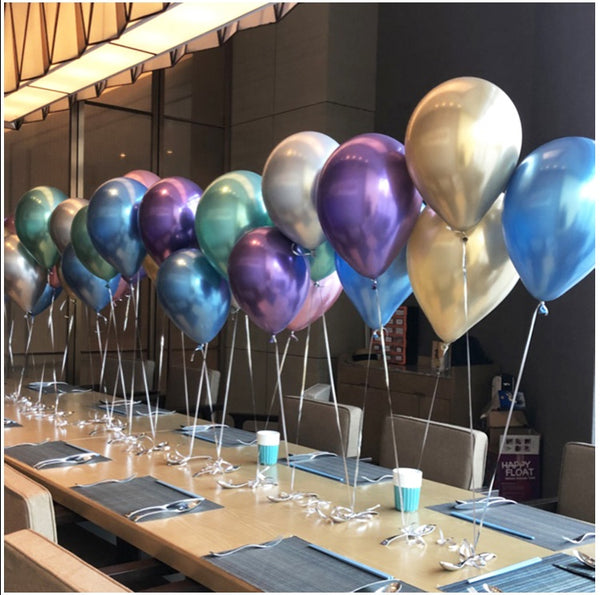 chrome balloons table top in Dubai