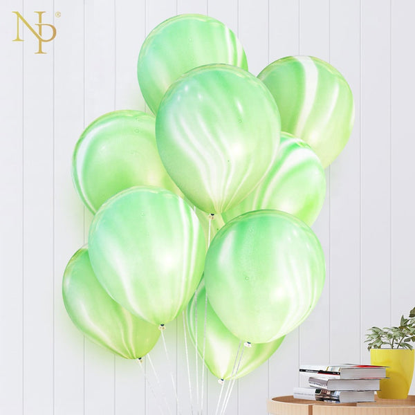 greeen marble latex balloons bunch for sale online in Dubai