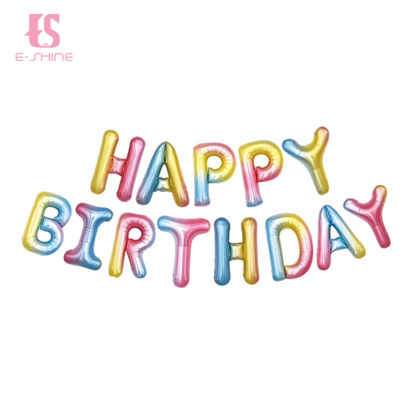 Colorful Happy Birthday Balloons Bunting Banner Set - PartyMonster.ae