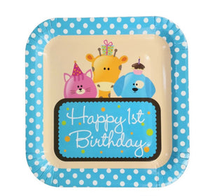 Happy 1st Birthday paper plates for sale in Dubai