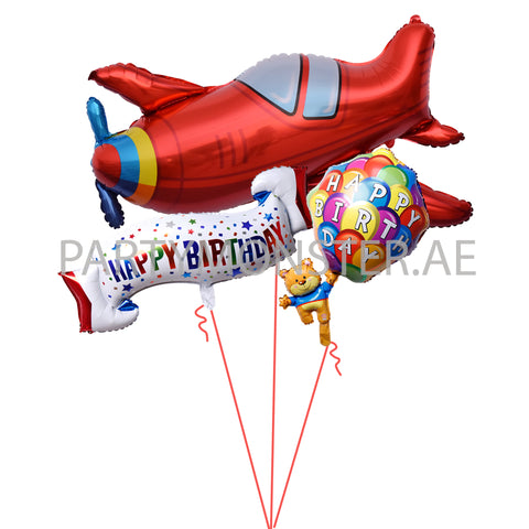 Happy Birthday Frequent Flyer Balloons Bouquet for sale online in Dubai