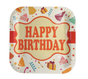 Happy Birthday paper plates for sale in Dubai