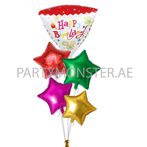 Star's birthday balloons bouquet - PartyMonster.ae