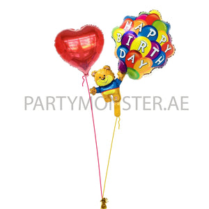 Happy Birthday Love foil balloons bouquet - PartyMonster.ae