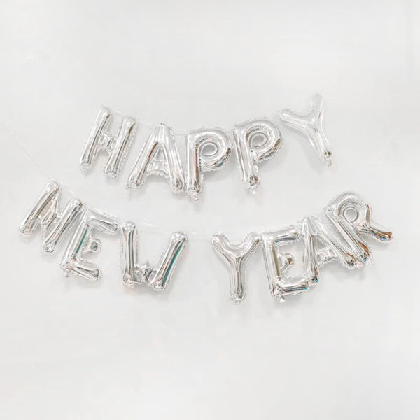 happy new year silver balloons for sale online in Dubai