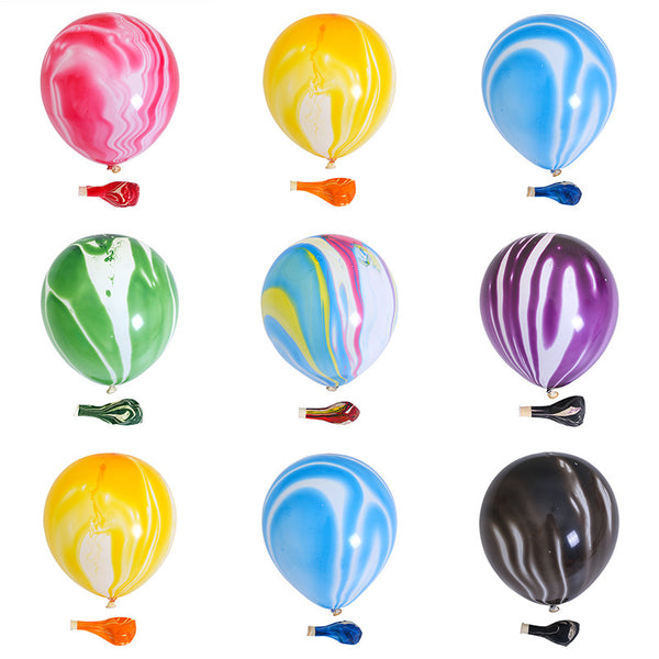colours of marble latex balloons bunch for sale online in Dubai