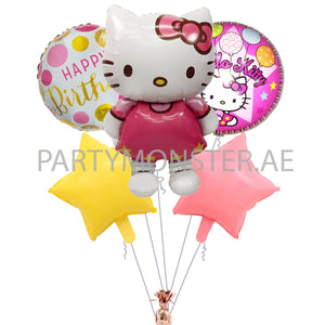 Hello Kitty birthday balloons bouquet - PartyMonster.ae
