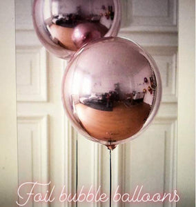 4D Orbz Rose Gold Balloon Sphere - 24in - PartyMonster.ae