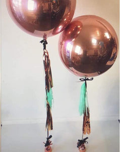 4D Orbz Rose Gold Balloon Sphere - 24in