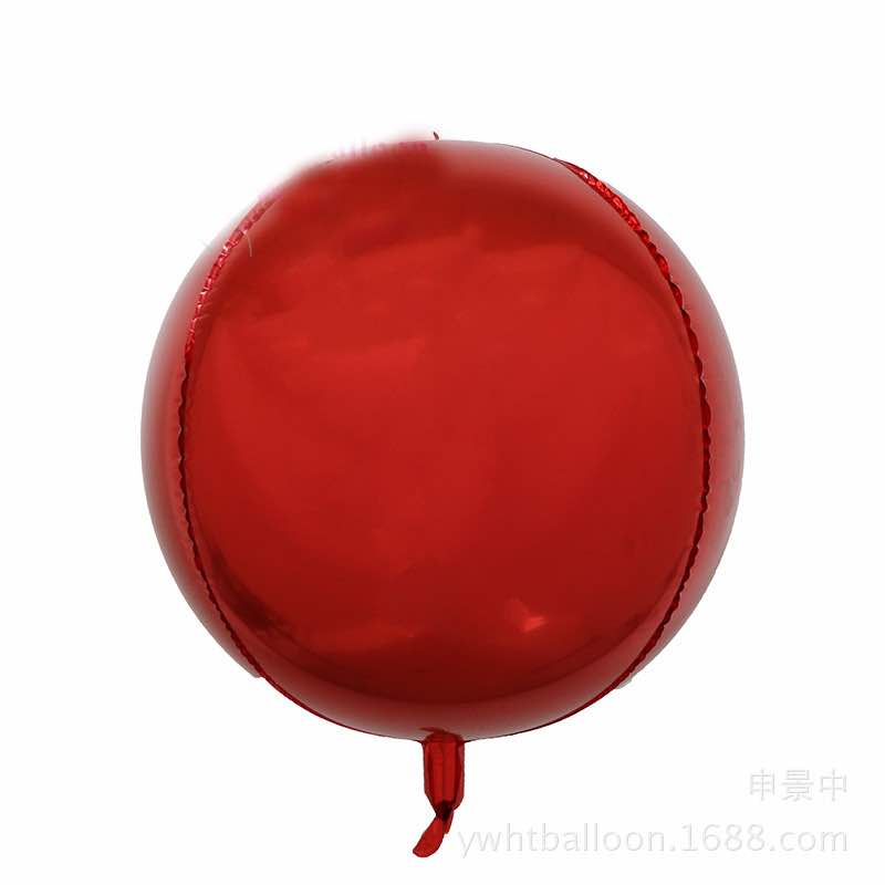 4D Orbz Red Balloon Sphere - 24in - PartyMonster.ae