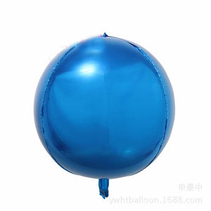 4D Orbz Blue Balloon Sphere - 24in - PartyMonster.ae