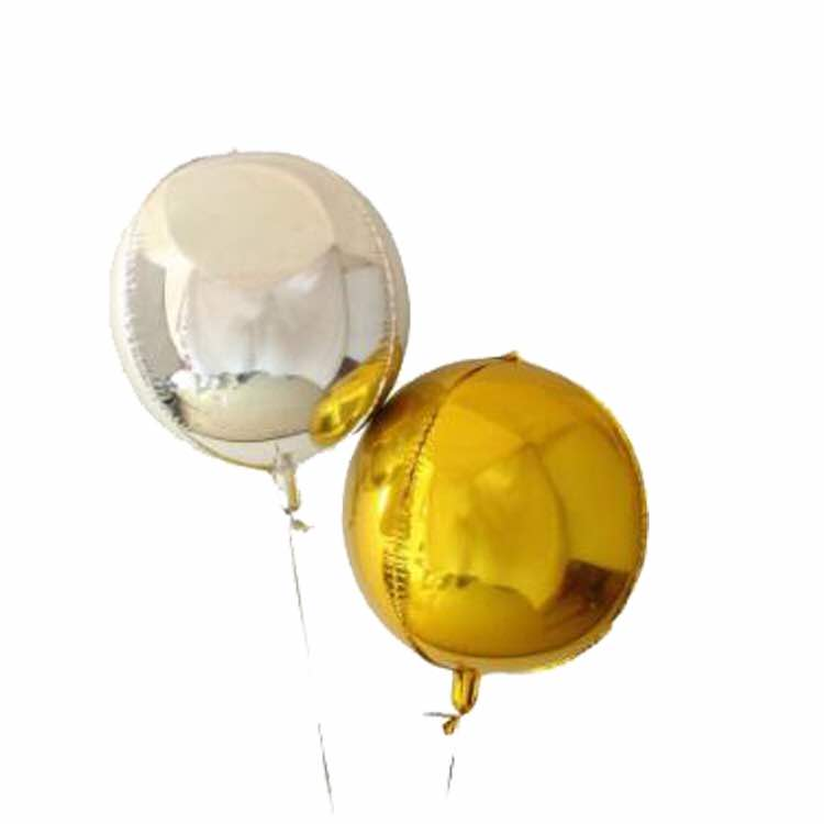 4D Orbz Gold Balloon Sphere - 24in - PartyMonster.ae