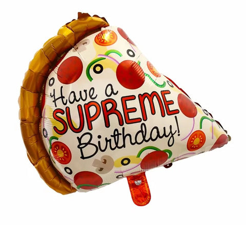 Have a Supreme Pizza Birthday Foil Balloon - 23in - PartyMonster.ae