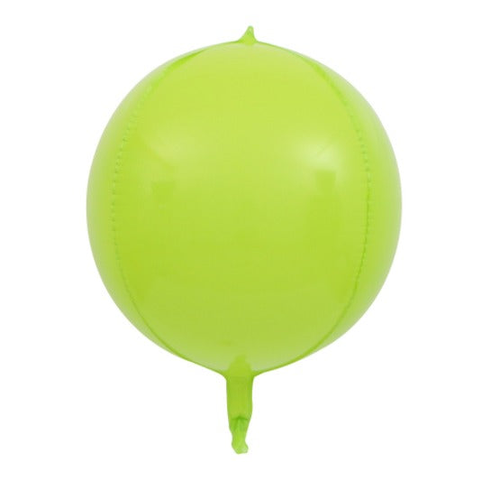 3D Orbz Foil Balloon Green Macaroon- 24in - PartyMonster.ae